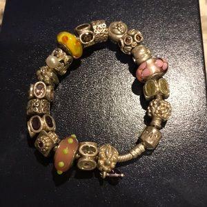 """Pandora 7"""", silver charm bracelet"""